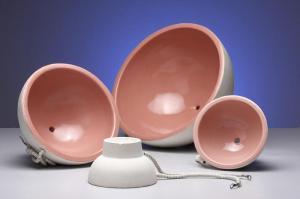 Resistências em cerâmica tipo Cubas para aquecimento de balões volumétricos